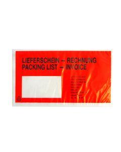 Begleitpapiertasche DIN lang mit Aufdruck Lieferschein/Rechnung