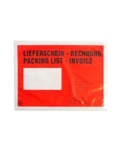 Begleitpapiertasche DIN C5 mit Aufdruck Lieferschein/Rechnung