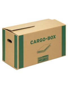 Cargobox Bücherbox braun