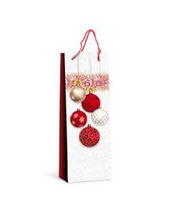 """Lackpapier-Tragetasche """"Weihnachtsfest"""" für 1 Flasche"""
