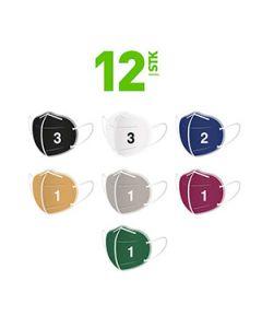 Farbige FFP2 Masken für Herren - im 12er Set