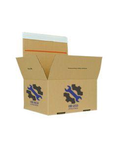 Bedruckter Automatikkarton, 4-seitig bedruckt 305 x 215 x 220 mm
