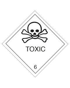 Gefahrgutetiketten aus Papier mit Aufdruck Toxic