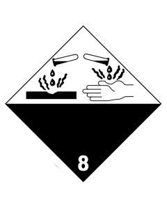 Gefahrgutetiketten aus PE-Folie mit Aufdruck Corrosive