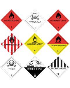 Gefahrgutetiketten Papier