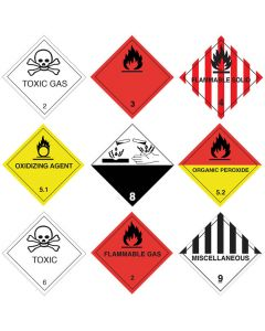Gefahrgutetiketten aus PE-Folie