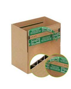 1-welliger Faltkarton mit 2-fach Verschlusstechnik