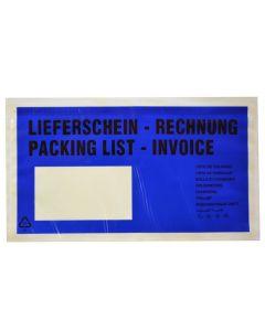 """Begleitpapiertaschen DINlg """"Lfs/Rg"""" blau"""