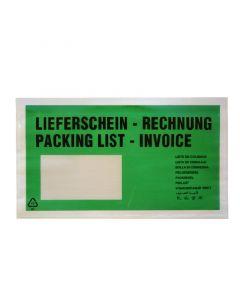 """Begleitpapiertaschen DINlg """"Lfs/Rg"""" Grün"""