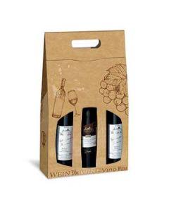 Weinfaltschachtel PURE NATURELL, 3er Tragekarton