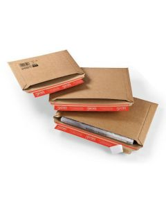 Versandtasche mit Querbefüllung - 340 x 235 x -35 mm, braun