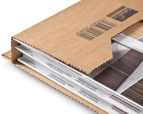 Seitenlaschen Buchverpackung