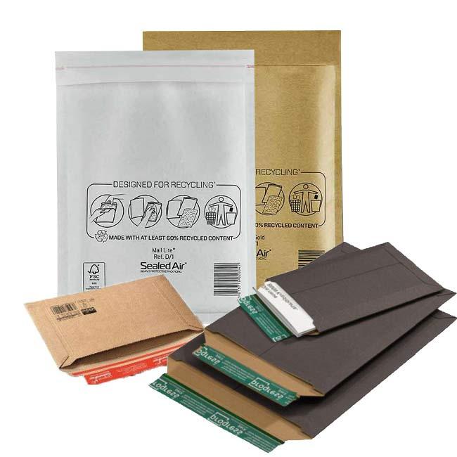 Verschiedene Varianten von Versandtaschen