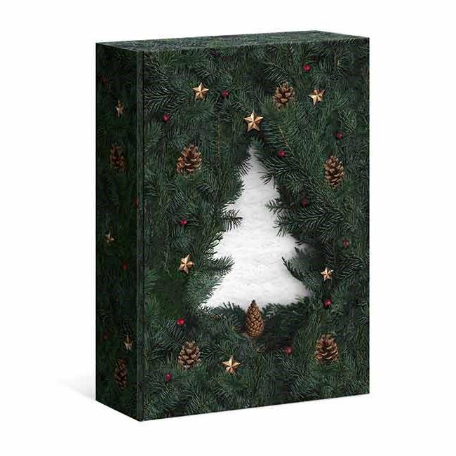 Weihnachtliche Kartons