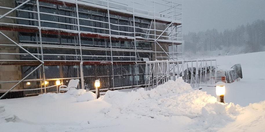 Update Neubau Schnee