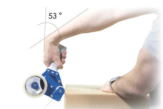 Herkömmlicher Handabroller - extrem steil und angespannt