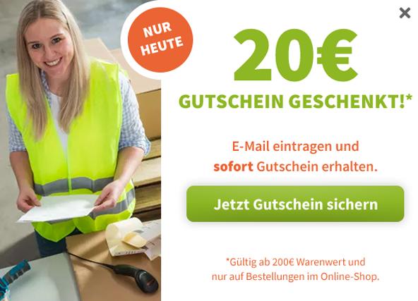 20 € Gutschein für Ihre Newsletter-Anmeldung!